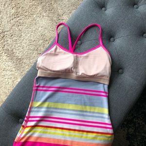 lululemon athletica Tops - Lululemon Power Y Top in Raspberry Glo Groovy Pink